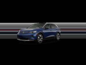 Volkswagen ID.4 Blue Front View