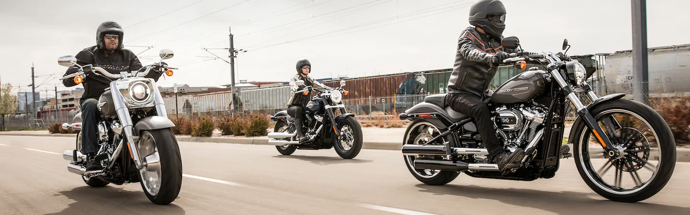 2020 harely-davidson softail models riding