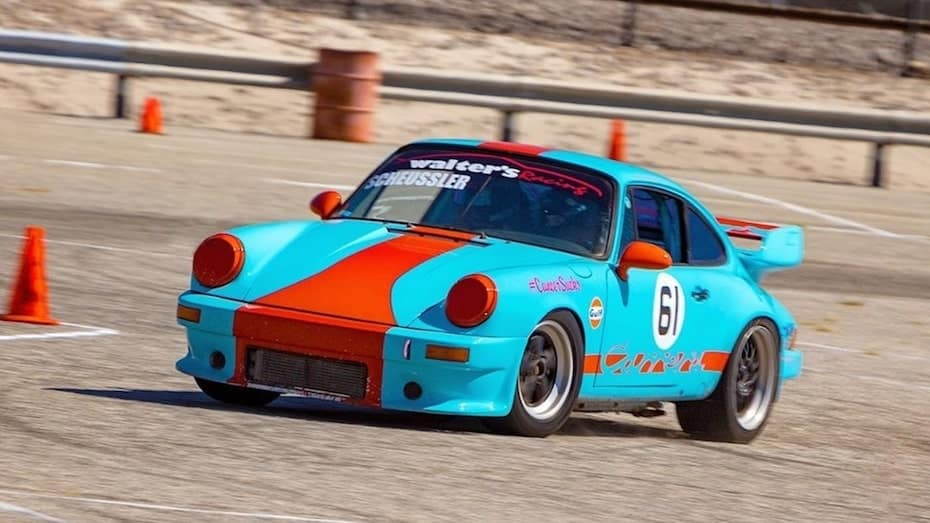 Classic Porsche Running The Riverside Region Autocross Course