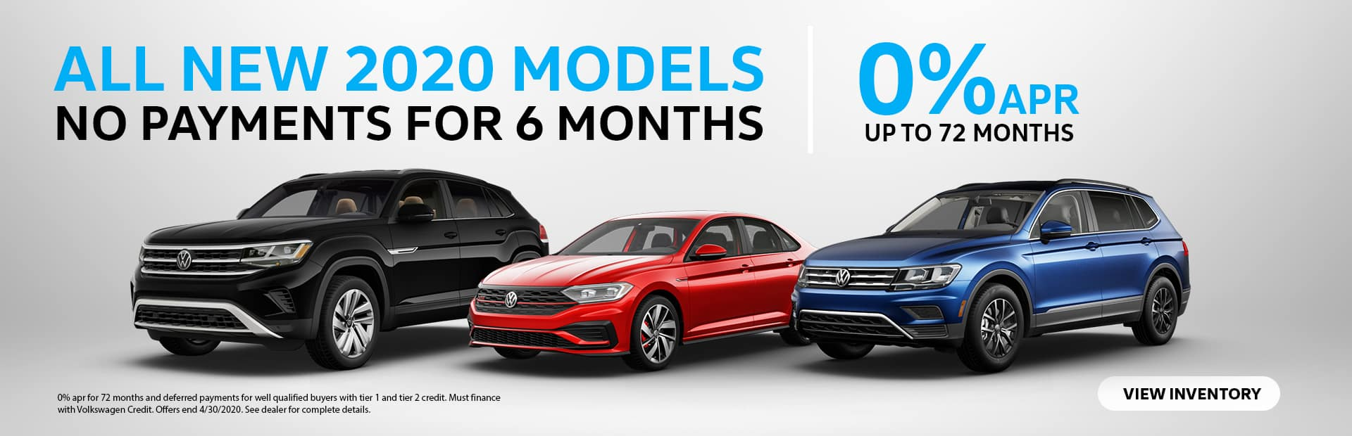 Volkswagen 0% APR Tier 1 and 2 up to 72 Months