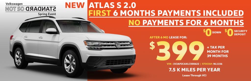 New 2020 Volkswagen Atlas 2.0 S