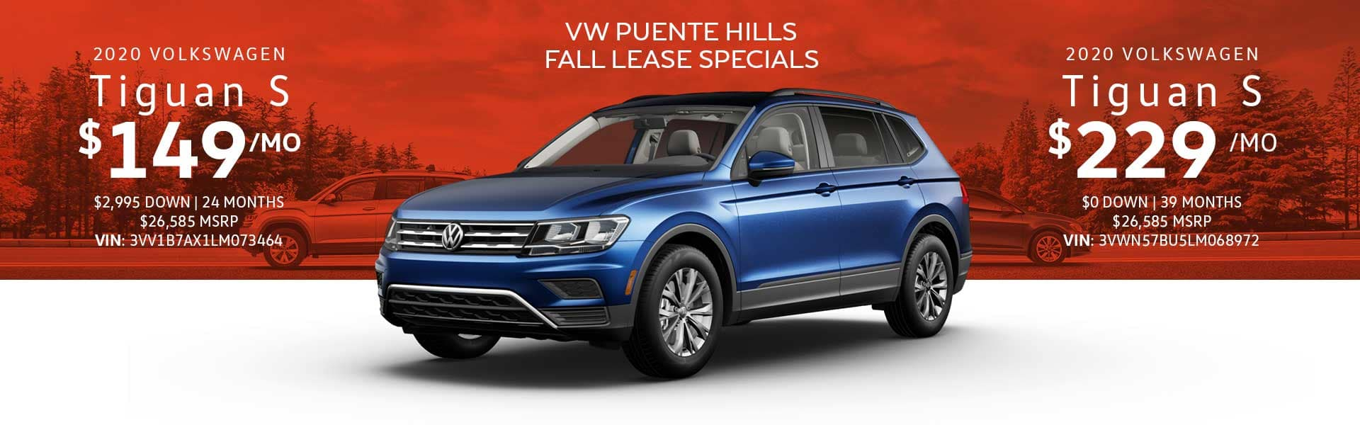 new tiguan s lease special