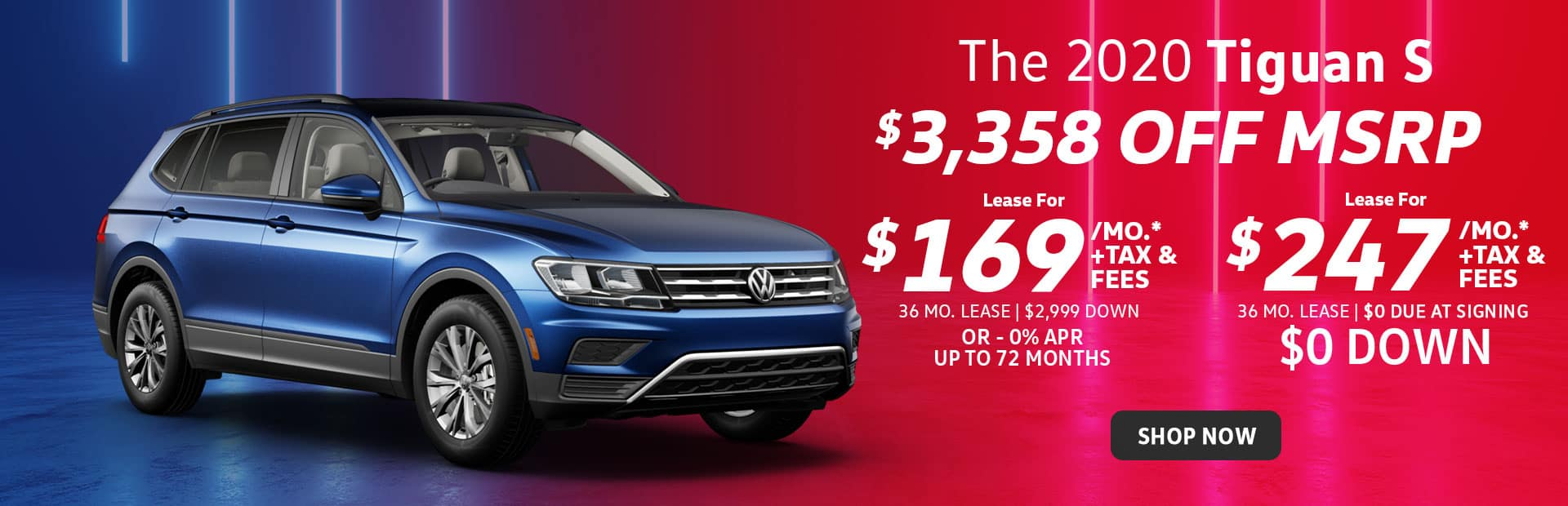 new vw tiguan slease special