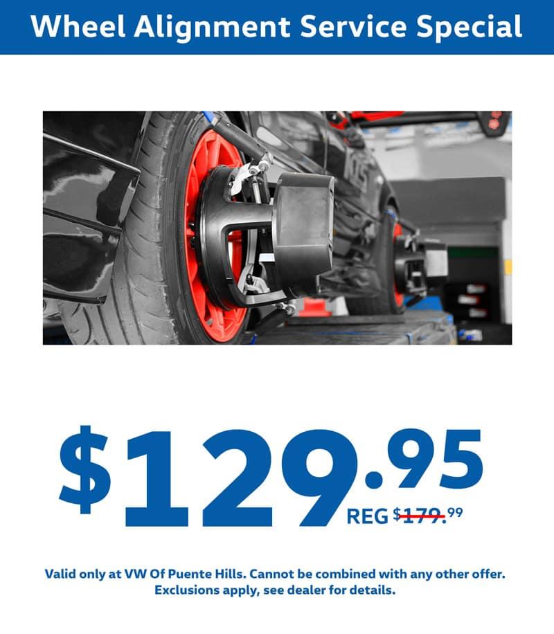 wheel alignment service special