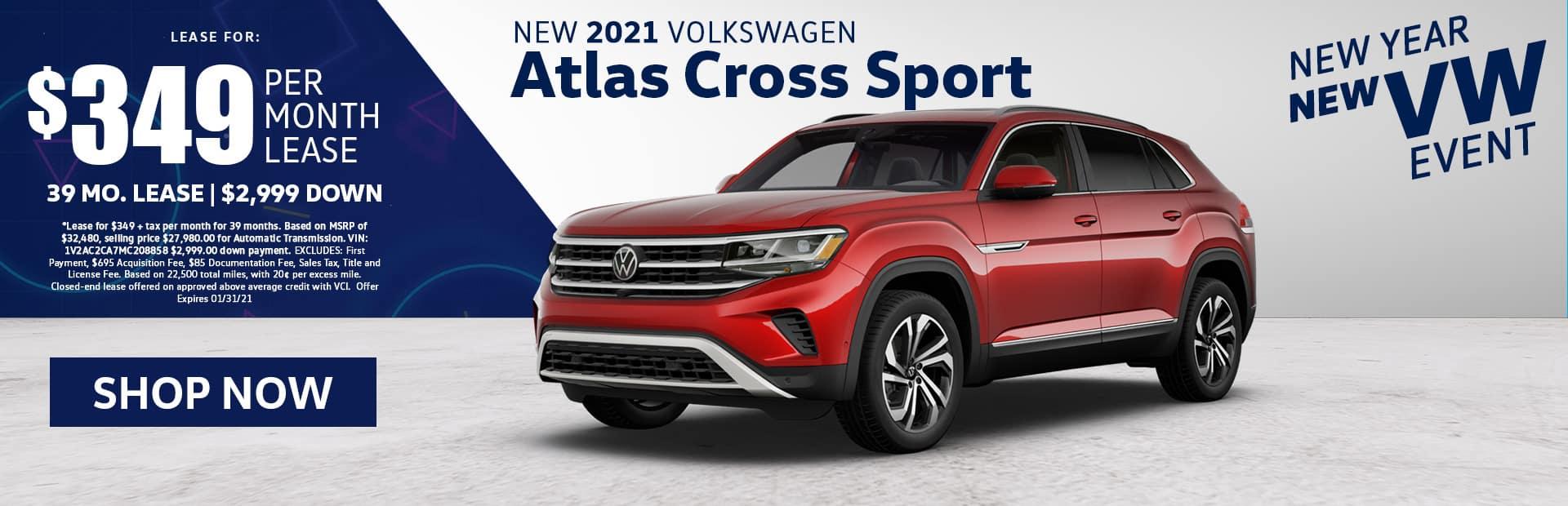new 2021 vw atlas cross sport lease special