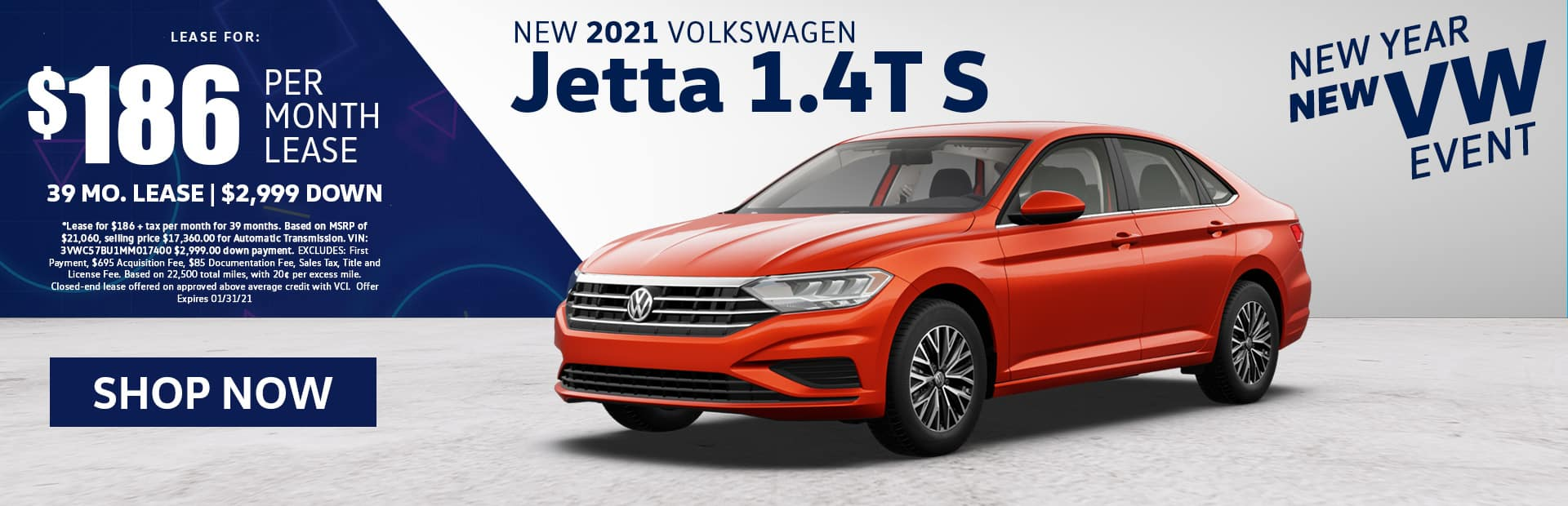 new 2021 vw jetta s lease special