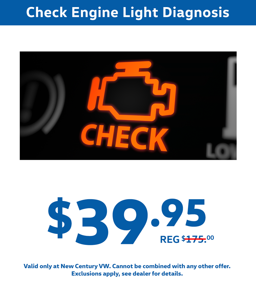 volkswagen check engine light special