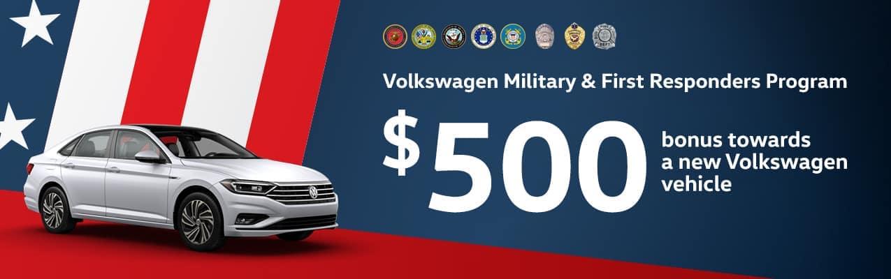 Volkswagen Puente Hills military and first responders program