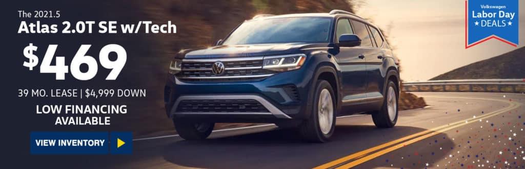 New 2021 Volkswagen Atlas 2.0T SE w/Technology FWD 4D Sport Utility