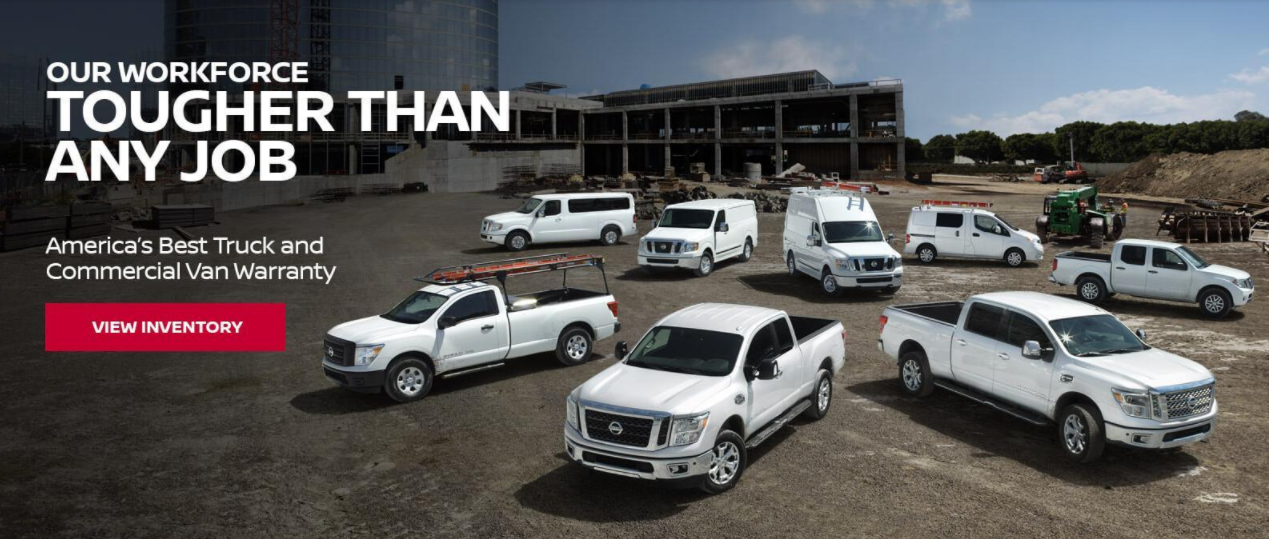 Nissan commercial vehicles banner
