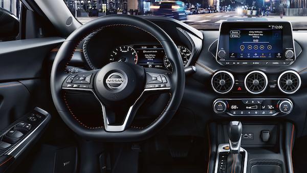 2020 Nissan Sentra dashboard display