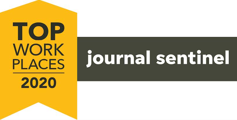 Milwaukee Journal Sentinel Top WorkPlaces 2020 logo