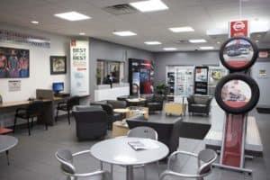 Rosen Nissan Milwaukee Service Center waiting area