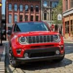 red 2021 jeep renegade