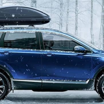 rooftop carrier on blue CRV