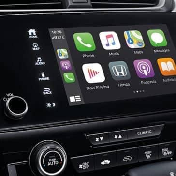 interior technology on CRV dashboard