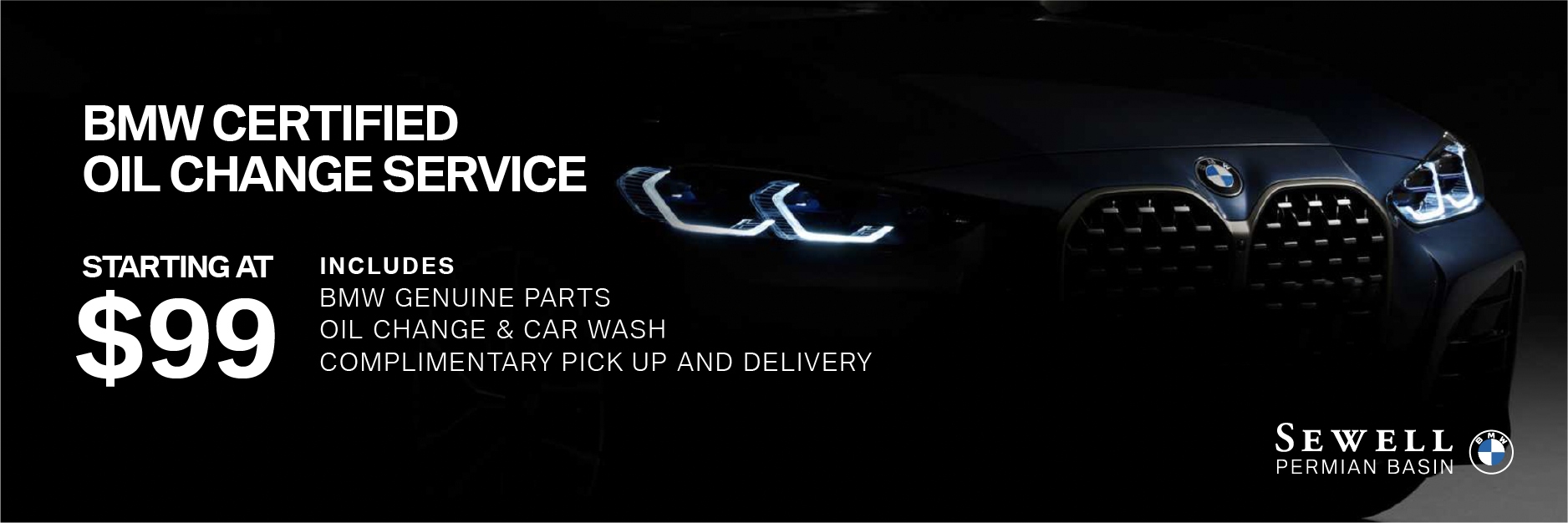 BMW Certified Oil Change Service Starting at $99