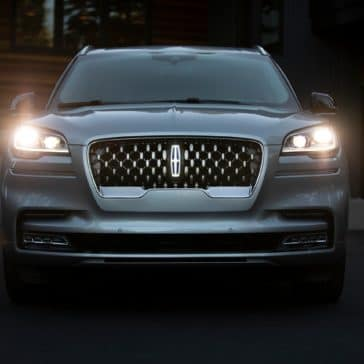 Headlights of the Lincoln Aviator available at Team Sewell Lincoln Dealer