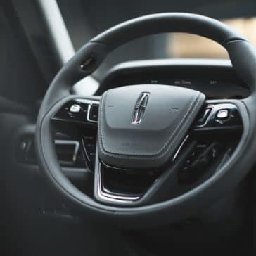 New 2020 Lincoln Aviator grand tour steering wheel