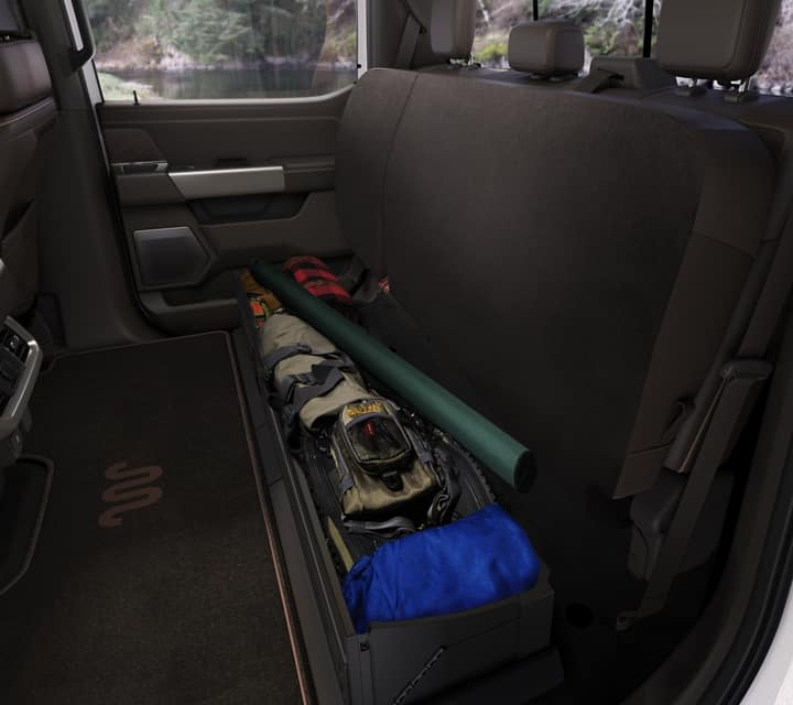 The New 2021 F-150 have plenty of space for a long haul.