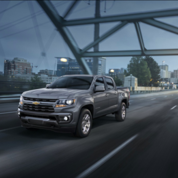 Nighttime view of the New 2021 Chevy Colorado Truck