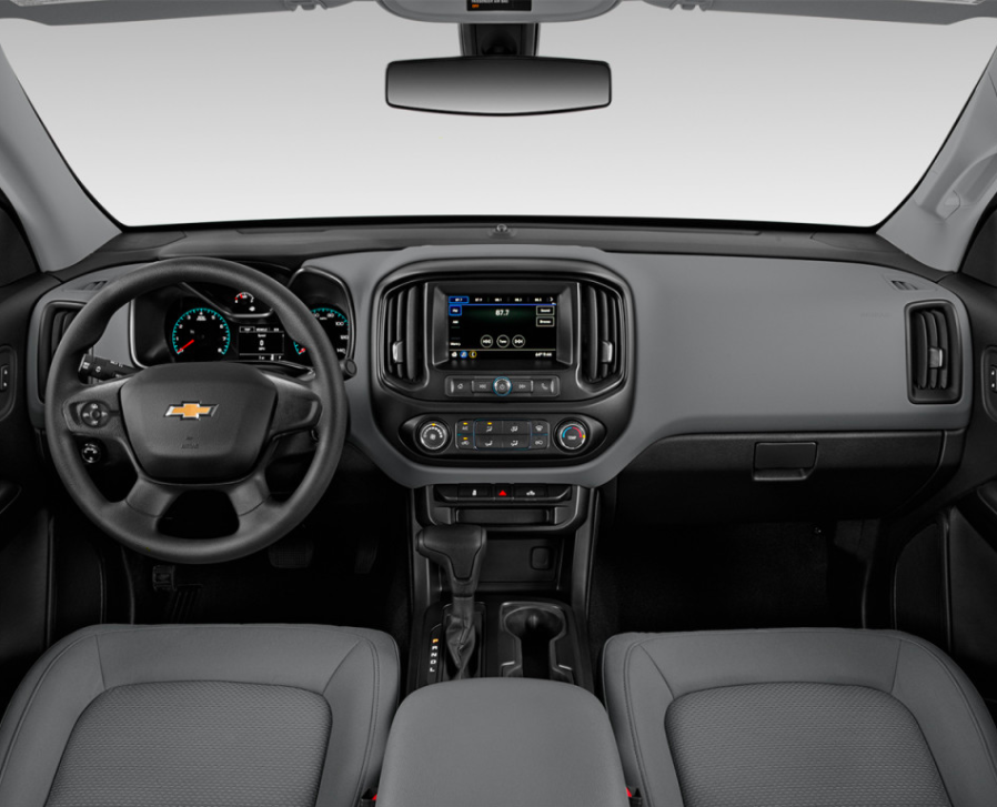 Dashboard view of 2021 Chevy Colorado