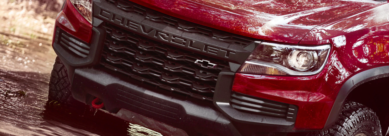 The front grill of the Chevy Colorado available in Midland-Odessa, TX.