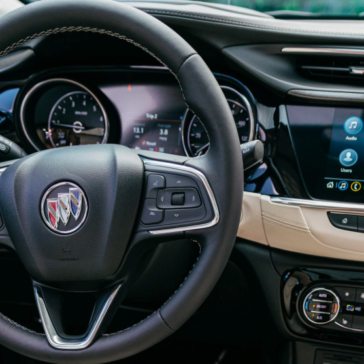 Driver side interior view of the 2021 Buick Encore GX