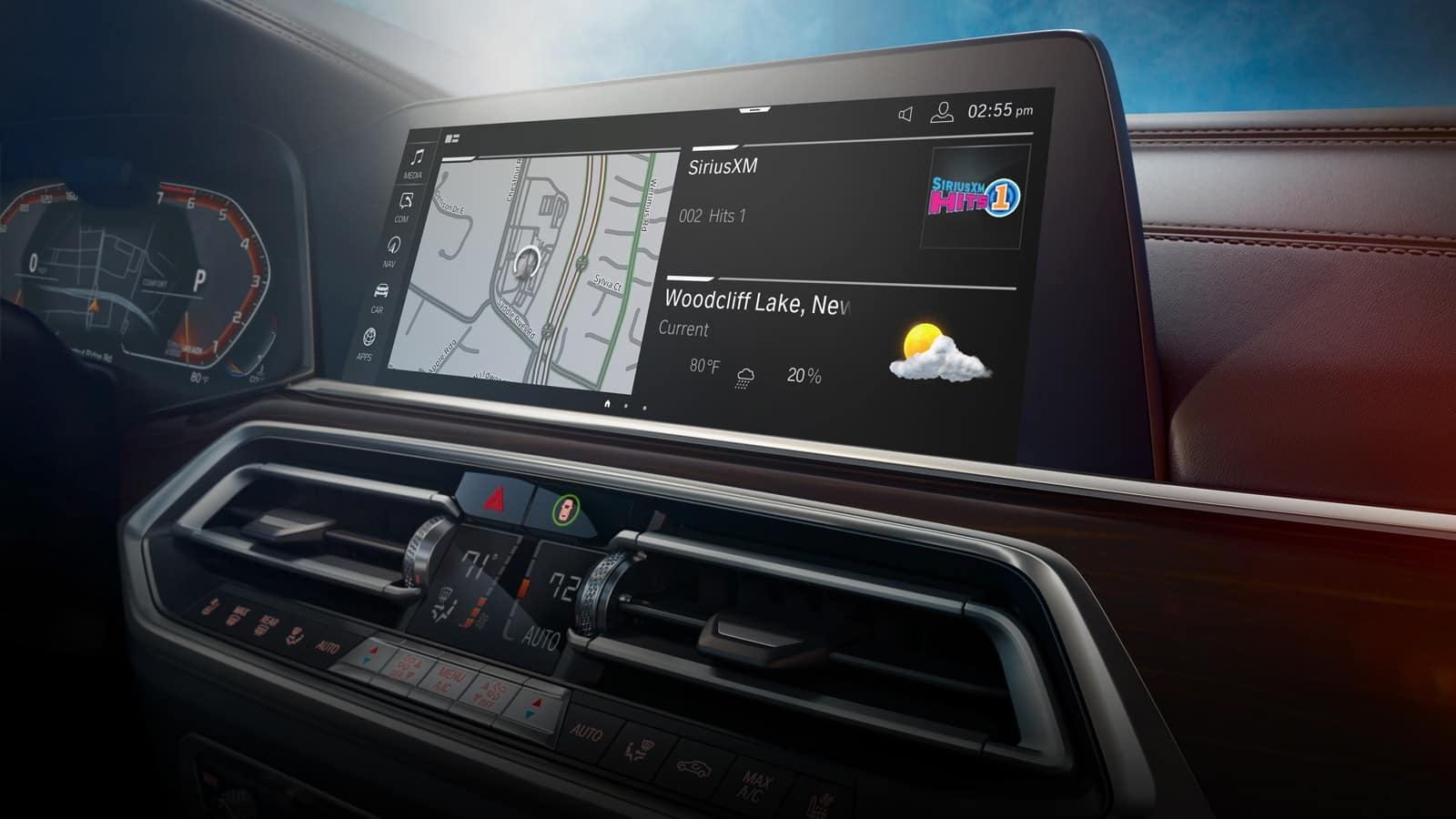 GPS in the dashboard is among the latest features in the 2021 BMW X5 at Sewell BMW.