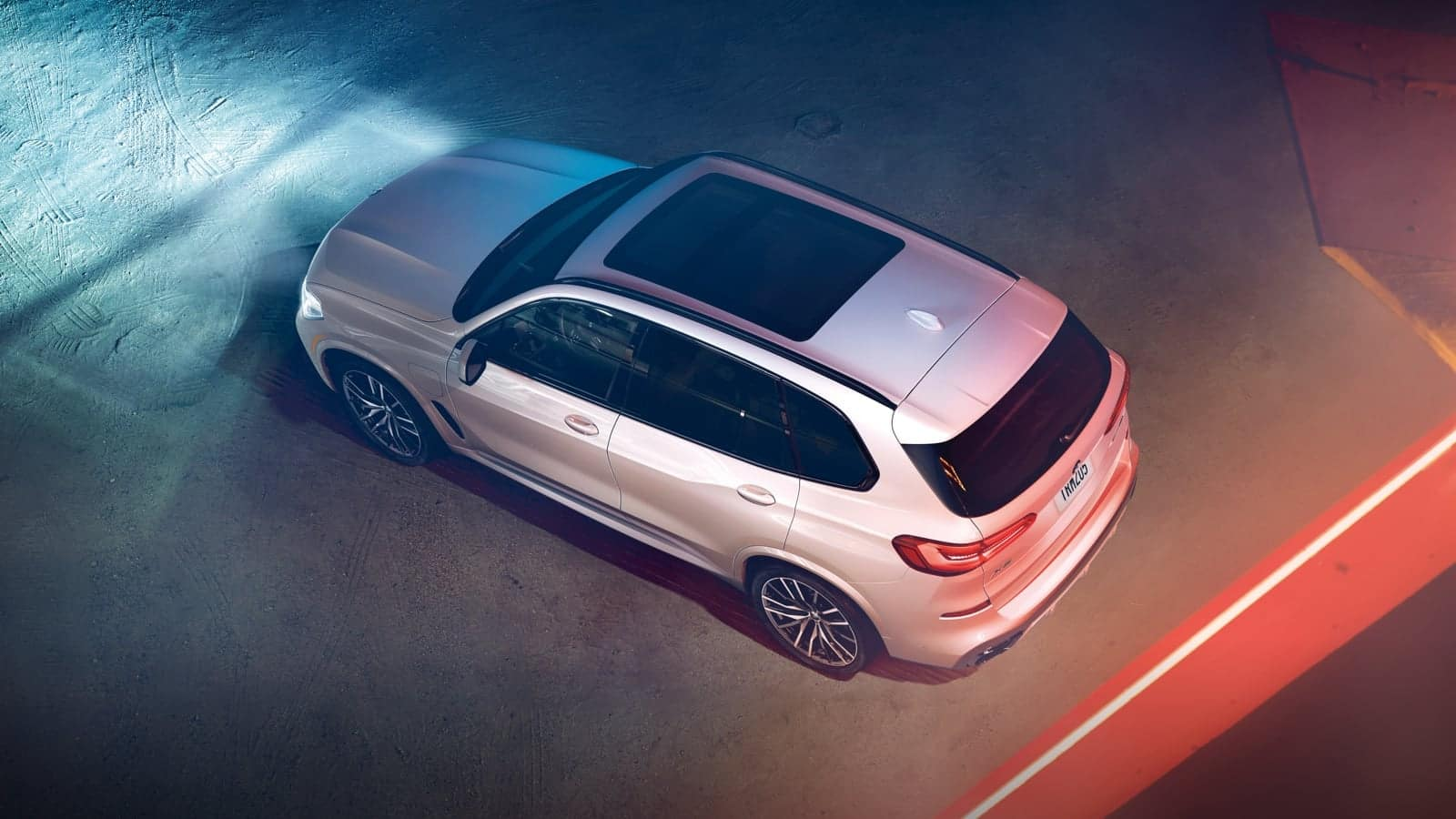 Bird's eye view of the New BMW X5