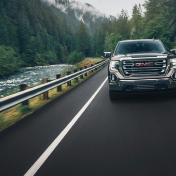 2020 GMC Sierra taken for a test drive out in the wild