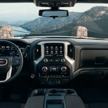 Dashboard view of the New 2020 GMC Sierra