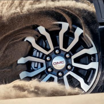Rugged rims on the 2020 GMC Sierra