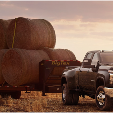 Picture of the new Chevy Silverado 2500HD out in a field.