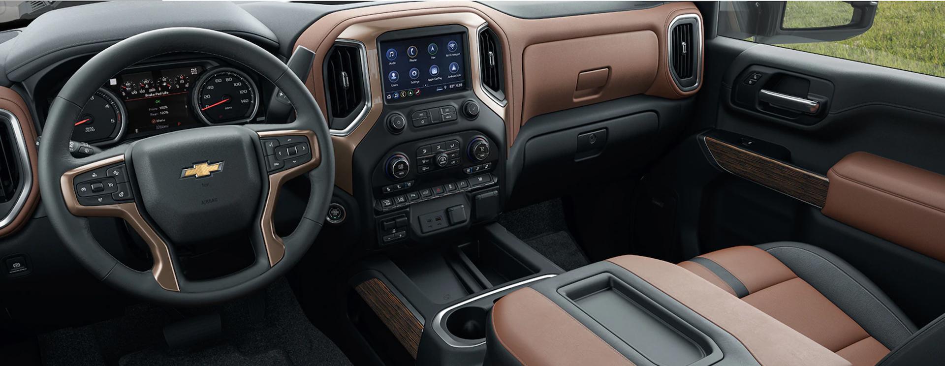 Dashboard view of the New 2020 Silverado 2500 HD