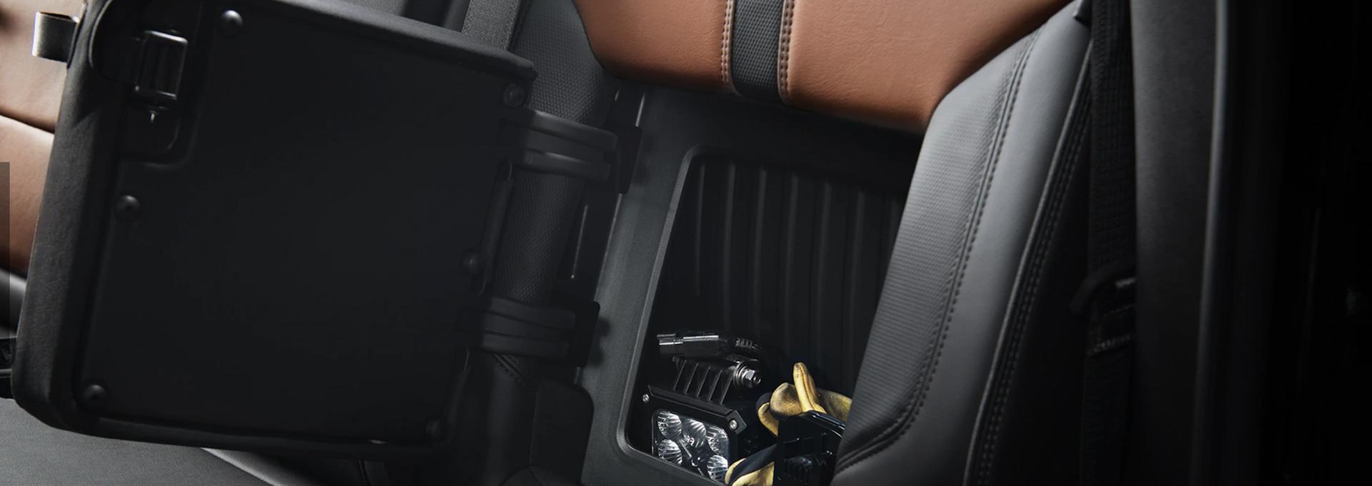 Hidden storage compartment in the New Chevy Silverado HD