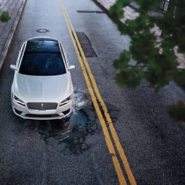 Picture of a birdseye view of the 2020 Lincoln MKZ