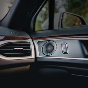 Speakers in the MKZ are seamless with luxury trim.
