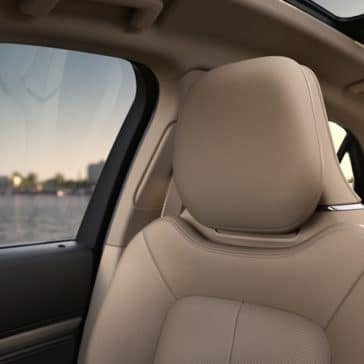 The 2020 Lincoln has luxurious seating in both front and back seats.