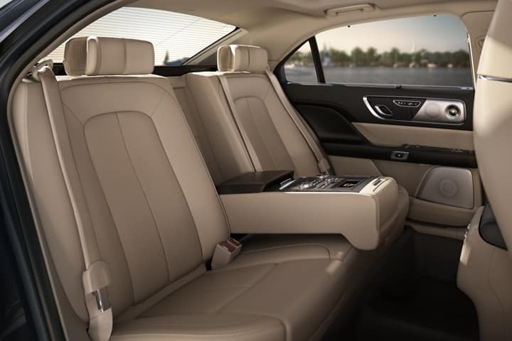 Picture of the backseats of the Lincoln Continental