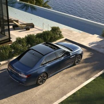 Picture of the new Lincoln Continental from a birds eye view.