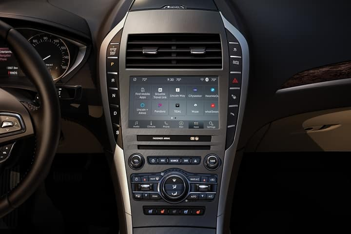 Dashboard view of the 2020 Lincoln MKZ