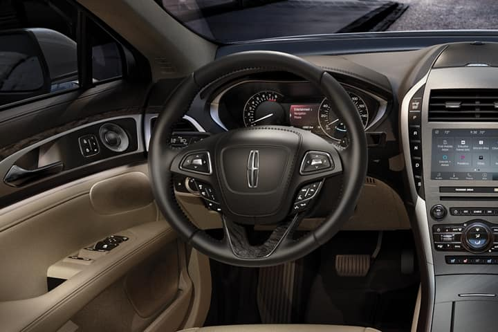 Photo of the New 2020 Lincoln MKZ steering wheel