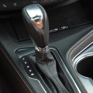 Photo of the 2020 Cadillac CT4 shifter