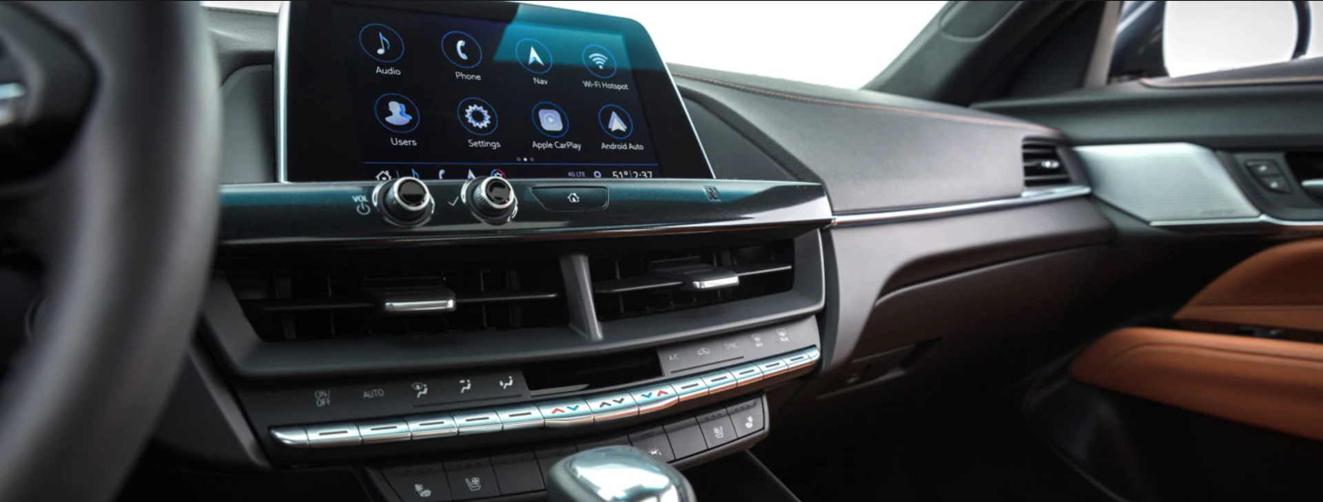 Dashboard pic of the the brand new 2020 Cadillac CT4