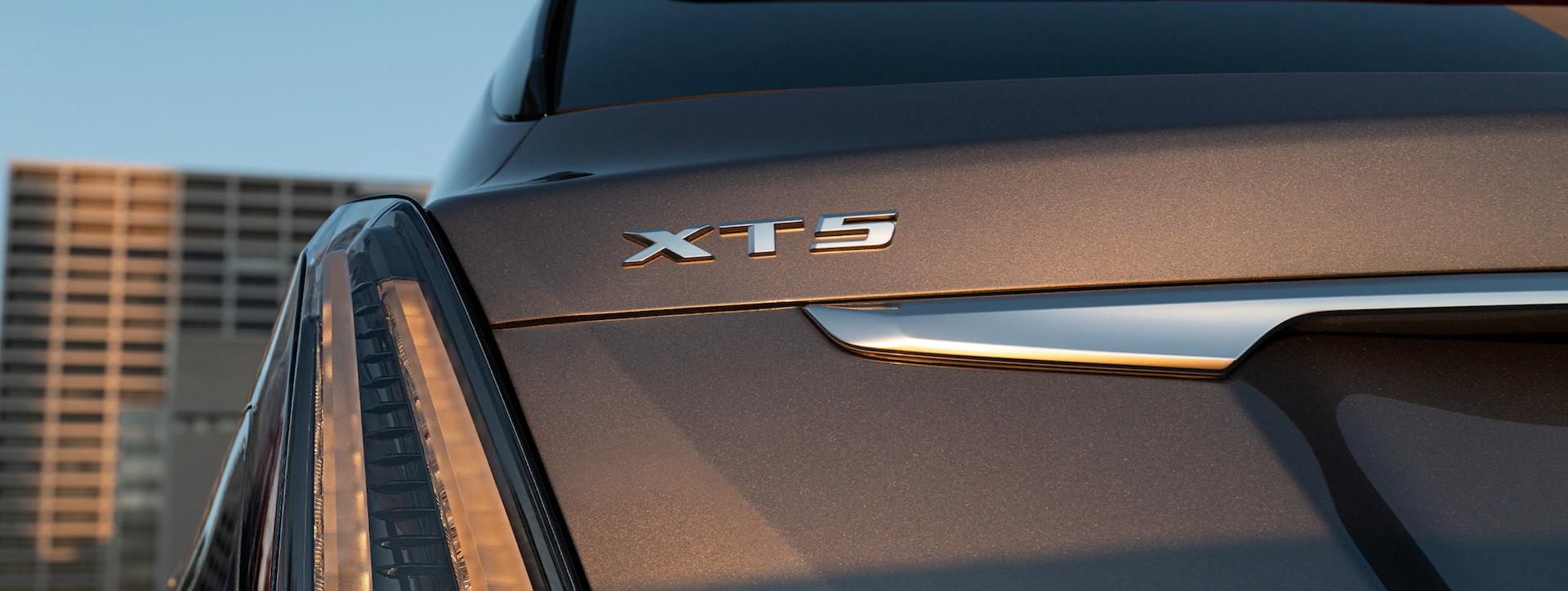 Rear view of 2021 Cadillac XT5 SUV near you.