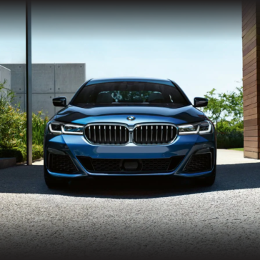 Front grille of the 2021 BMW 5 Series sedan