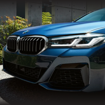 Headlight view of the new 2021 BMW 5 Series