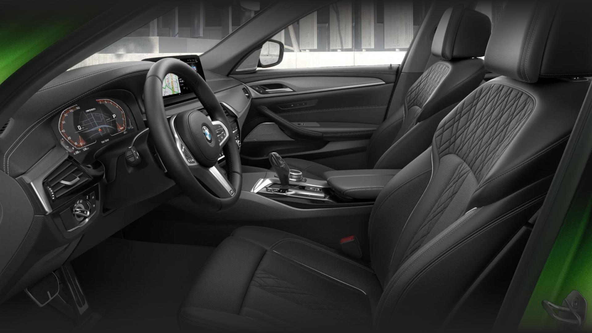 Photos of the 2021 BMW 5 series interior