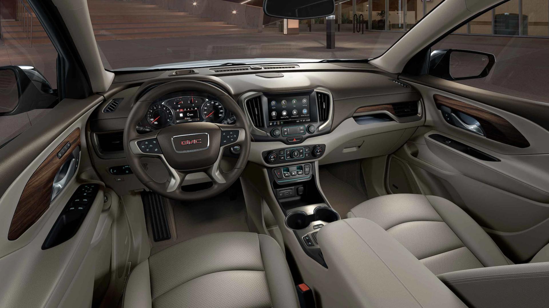 Photos of the sleek interior of the 2021 Terrain SUV